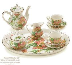 """Warwickshire Meadow Porcelain Mini Tea Set From the """"Country"""