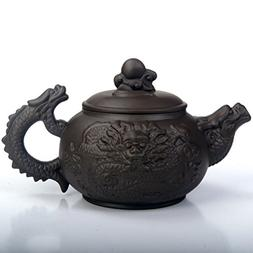 XDOBO Chinese Tea Pot, Retro Dragon Pattern Half-handmade To