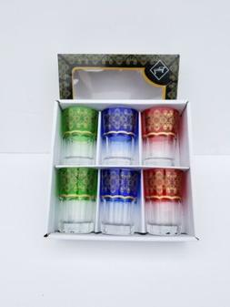 A High Quality Moroccan Tea Glasses Set of 6. 6 Ounce Size.