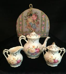 ADORABLE YOLIFE FLOWERING SHRUBS TEA SET- 3C. POT-WITH ELEGA