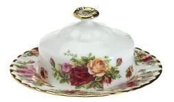 Royal Albert Old Country Roses Round Covered Butter Dish by