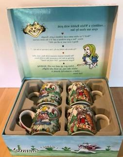 Alice in Wonderland Mug Coffee Tea Gift Set of 4 Paul Cardew