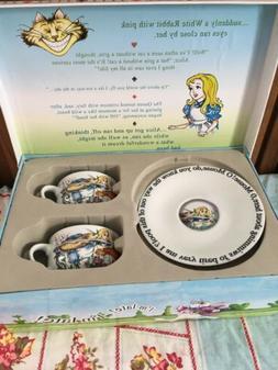 Alice in Wonderland Tea Party Cafe Paul Cardew Set of 2 Brea