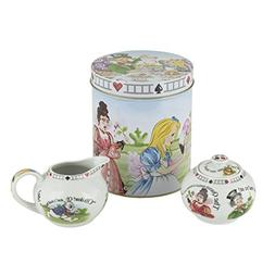 alice wonderland porcelain covered sugar