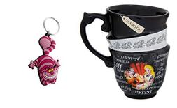 Alice in Wonderland Stacked Quotes Tea Cup Mug and Cheshire