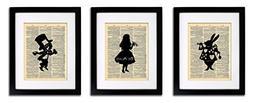 Alice in Wonderland Tea Party - 3 Print Set - Vintage Dictio