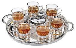 QUEEN ANNE 8 Piece Tea Set Six Cups And Bowl