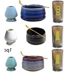 Japanese Matcha Whisk Chashaku Tea Scoop Bowl Kit Ceramic Ja