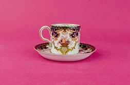Antique Spectacular Saucer COFFEE CUP Royal Crown Derby Serv