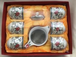 Asian Flair Tea Set New In Box