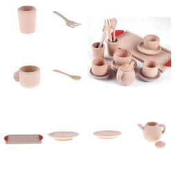 Assorted Wooden Tea Set for Children Tea Party Pretend Play