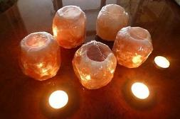 Authentic Natural Himalayan Crystal Salt Tea Light Candle Ho
