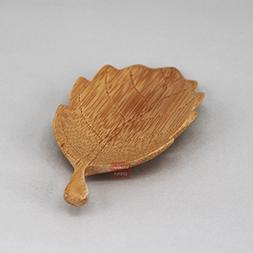 """""""A Leaf""""-B Cha He Scoop Chinese Bamboo Cha Dao Set Gongfu Te"""
