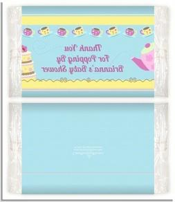 Baby Brewing Tea Party - Personalized Baby Shower Popcorn Wr