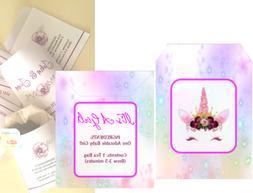 Baby Shower Tea Bag Envelope Personalized Party Favor Set of