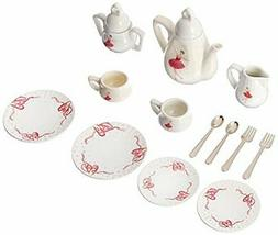 Delton Products Ballerina Tea Set For Two in Basket - 18 Pie