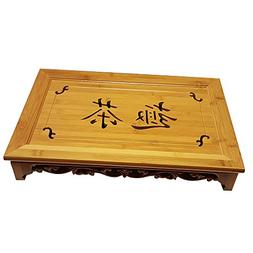 "Bamboo GongFu Tea Serving Tray L18"" x W12"" x H2.75"""