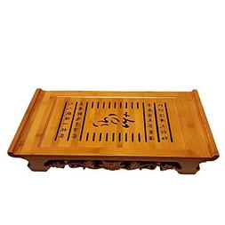 "Bamboo GongFu Tea Serving Tray L21"" x W12"" x H2.75"""