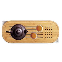 Segarty Bamboo Gongfu Tea Tray - Small Tea Table Serving Tra