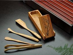 Bamboo Tea Accessories Chinese Gongfu Tea Ceremony Utensils