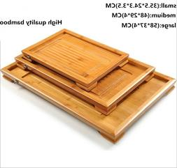 High Quality Bamboo Water Drainage Type Tea Tray/ Chinese Te