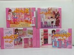 Gloria,Barbie Size Doll  Furniture/ 4 set of  Dining,Tea, Fr