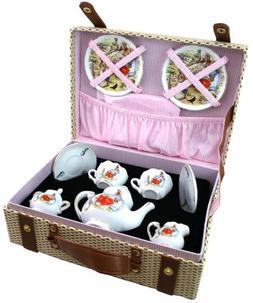 Beatrix Potter Tea Set For 2 w Peter Rabbit By Reutter Porce