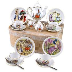 Beatrix Potter Tea Set Peter Rabbit & Friends By Reutter Por