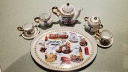 Beautiful 8 piece Miniature London Tea Set  by English Ceram