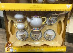 Disney Parks Beauty & Beast BELLE TEA SET 13 pc Mrs Potts Ch