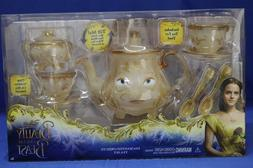 Disney Store Beauty and the Beast Deluxe Tea Set Singing Lum