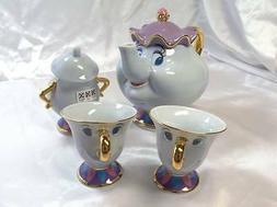 Beauty and the Beast Mrs. Potts and Chip Tea Set Tokyo Disne
