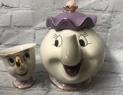 Beauty And The Beast Tea Set Mrs Potts Chip Teapot Cup Ceram