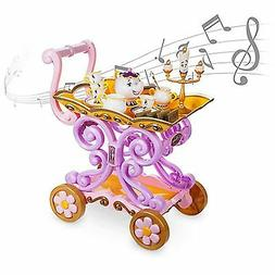Disney Store Beauty Beast ''Be Our Guest'' Singing Tea Cart