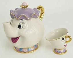Beauty And The Beast Teapot Cartoon Mug Mrs Potts Chip Tea P