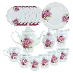 Beauty in Bloom Deluxe Porcelain Tea Set