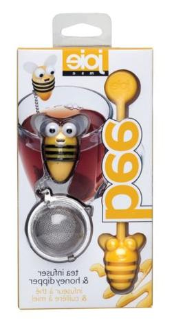 Bee Themed Stainless Steel Loose Leaf Tea Infuser Ball & Hon