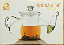 Teavana Belle Amitie Glass Teapot, Glass Tea Strainer and Gl