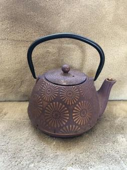 Teavana Big Cast Iron Teapot Infuser Fuschia Gold 40oz