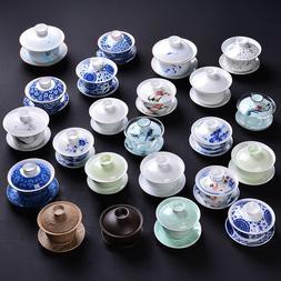 big promotion porcelain gaiwan Chinese cup bowl set zisha tu