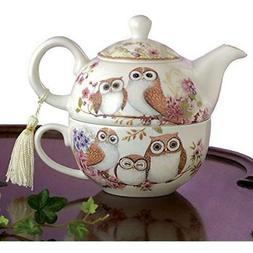 Bits Pieces Teapots - One Owls Porcelain Cup Adorable Design