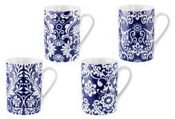 Elegant Blue and White Coffee Mug Tea Cup Set