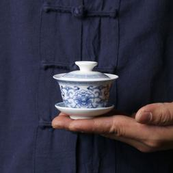 blue and white porcelain gaiwan small size Chinese tureen ce