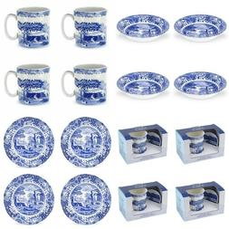 Spode Blue Italian Dip Dishes Dinner Plates Coffee Mug and T