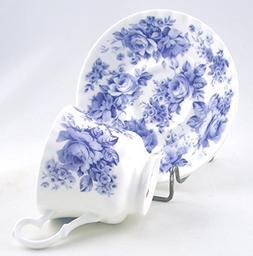 """English Chintz"" Blue Rose Chintz - Fine English Bone China"