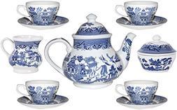 Churchill Blue Willow 11 Piece Tea Set