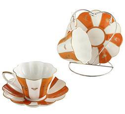 Bone China Ceramic 2 sets Chinese Auspicious Patterns Tea Cu