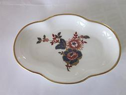 COALPORT Bone China Small Dish with Gold Rim, Pattern, KHOTA