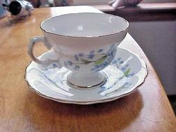 Royal Dover Bone China Tea Cup & Saucer Set Forget Me Not Pa