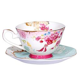 AWHOME Bone China Teacup and Saucer Sets Vintage Royal Style